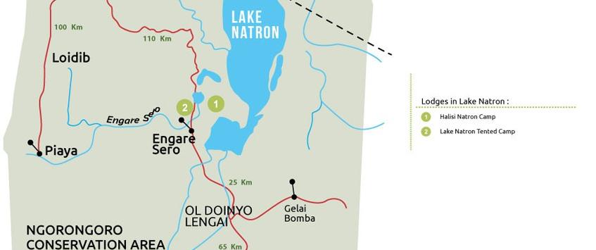 Lake Natron National Park Map