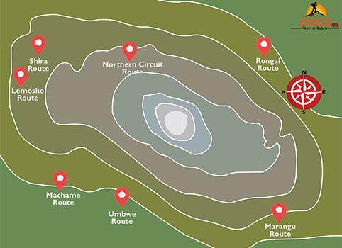 Climbing Mount Kilimanjaro Map
