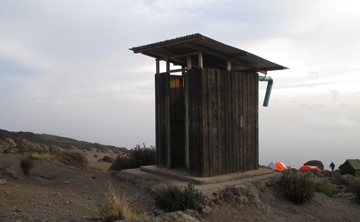 Private Toilet Tents On Kilimanjaro